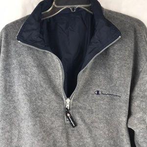 Champion reversible pullover 3/4 zip windbreaker